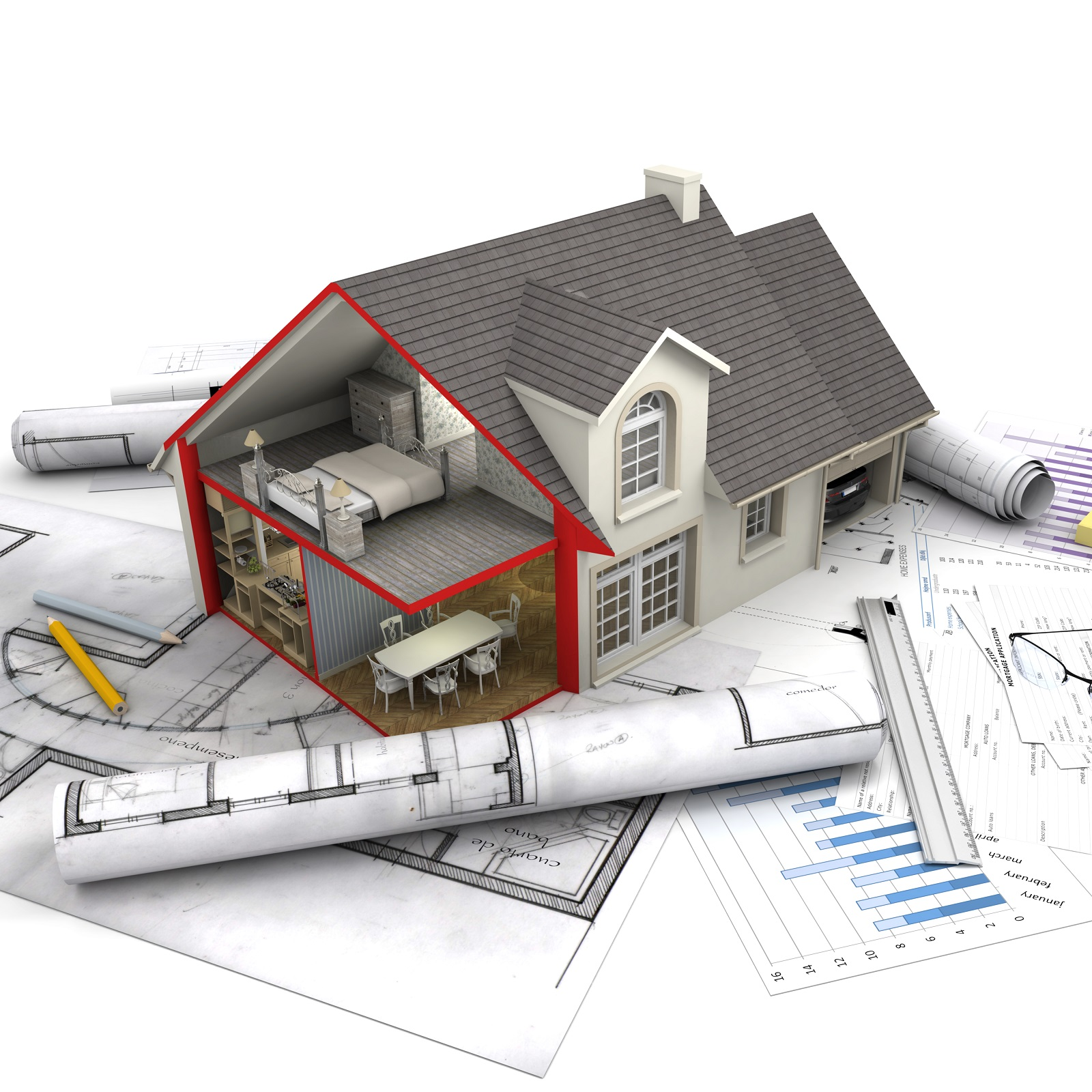 Cost effective architectural design and plans from a real for Architecte construction maison